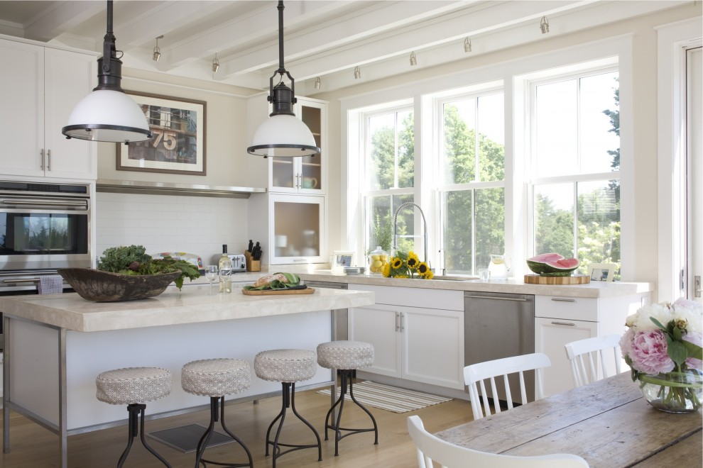 Aaa Cranston Ri for Beach Style Kitchen with Mixing Old with New