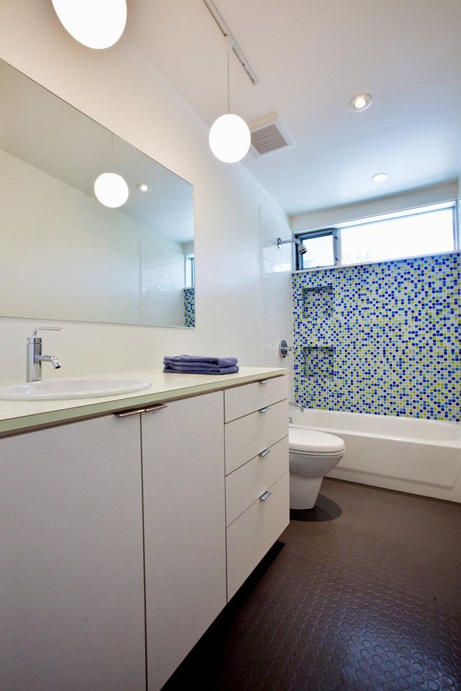 Abet Laminati for Midcentury Bathroom with Midcentury