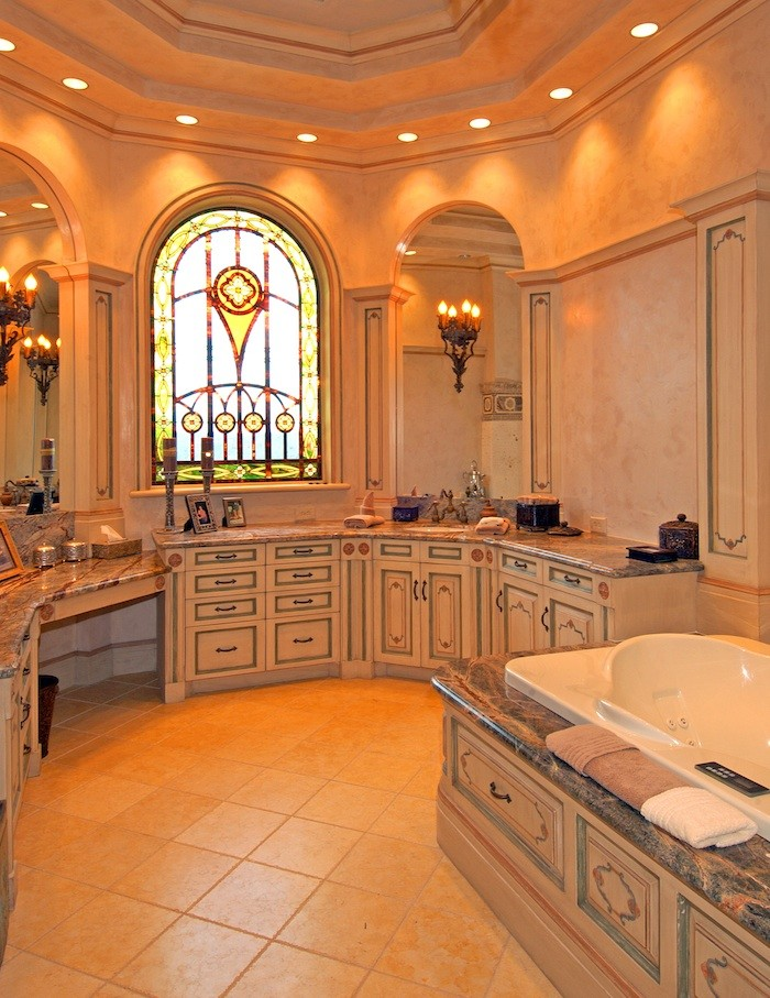 Aho Construction for Traditional Bathroom with Marble Countertops