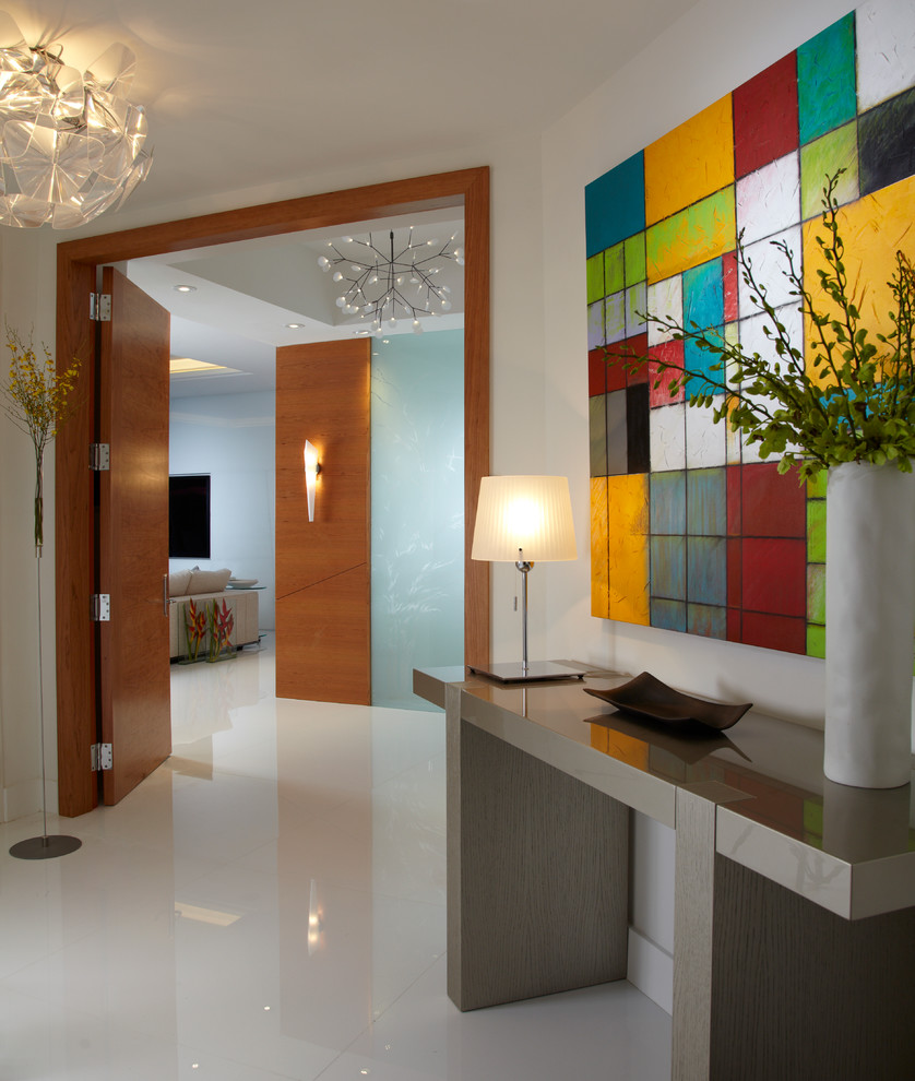 Akoya Miami Beach for Contemporary Entry with Wood Doors