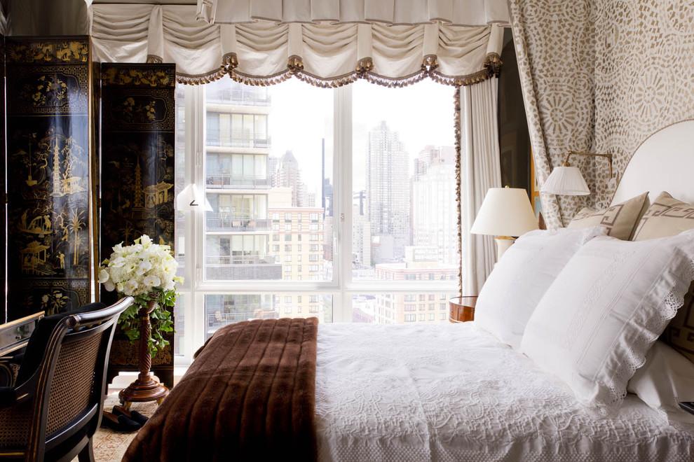 Alexa Hampton for Contemporary Bedroom with Folding Screen