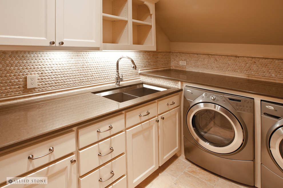 Allied Plumbing for Mediterranean Laundry Room with Washer