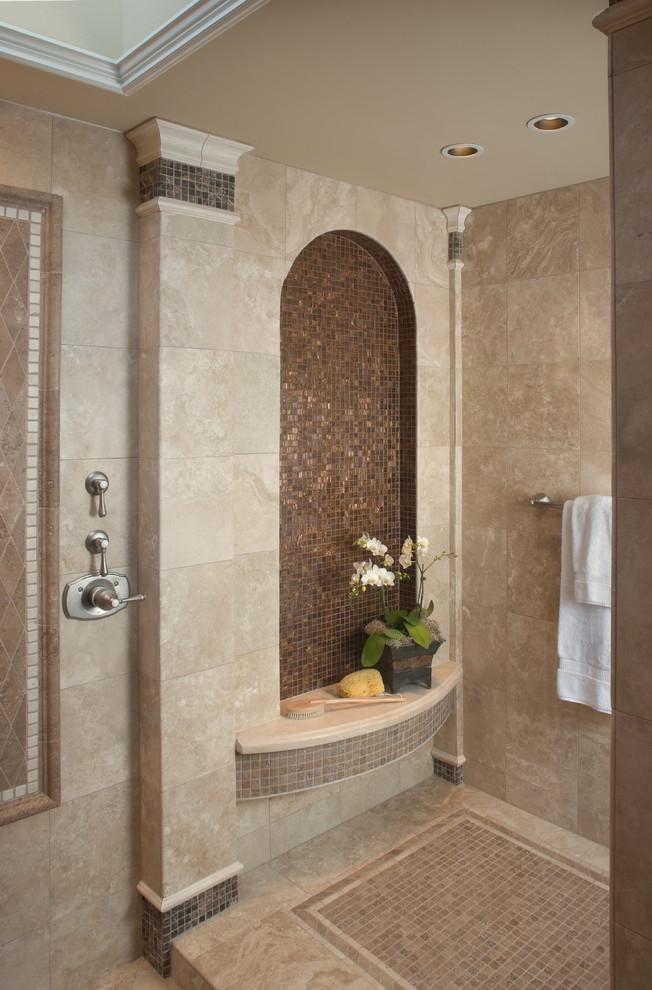 Arizona Tile Tempe for Mediterranean Bathroom with Wet Room