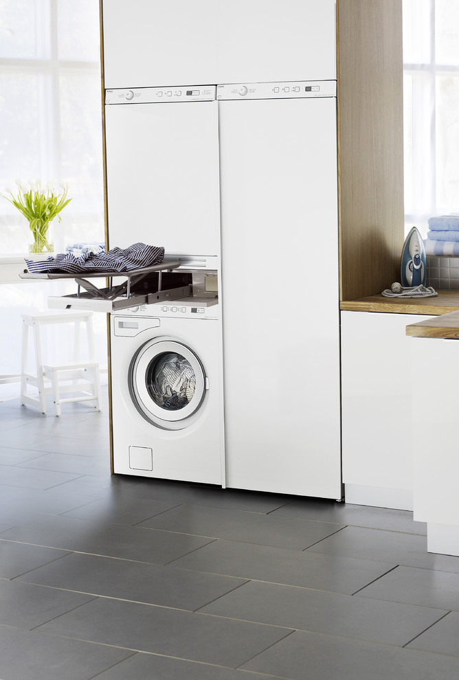 Asko Appliances for Contemporary Laundry Room with Contemporary