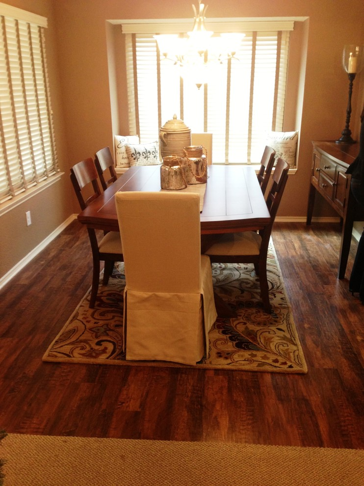 Atlas Flooring for Traditional Dining Room with Luxury Vinyl Plank Floor