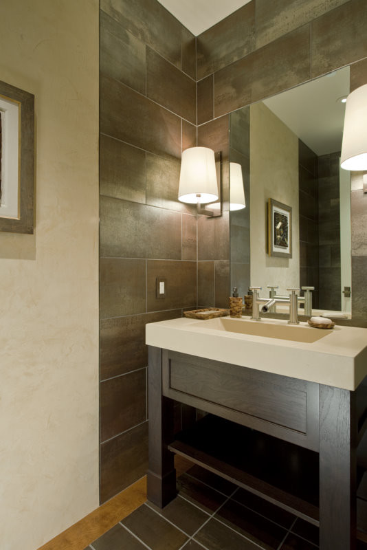 Atwal Eye Care for Contemporary Powder Room with Sink