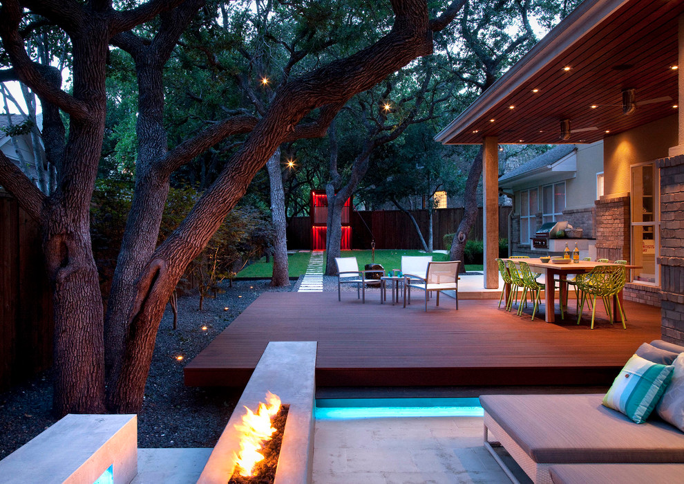 Austin Hardwoods for Contemporary Landscape with Outdoor Living