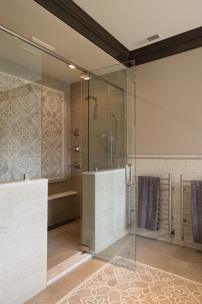 Az Tile Tempe for Traditional Bathroom with Crown Molding
