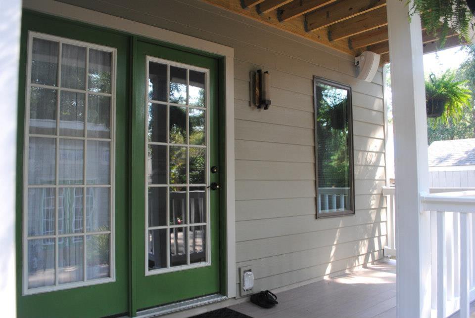 Azak for Eclectic Entry with Maintenance Free Azak Deck Silver Oak