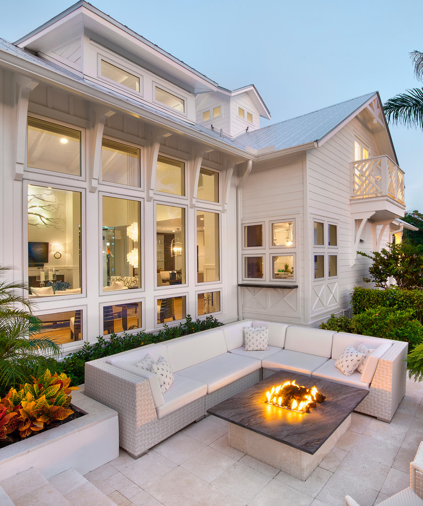Bacons Furniture for Beach Style Patio with White Exterior