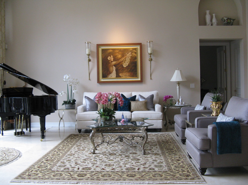 Ballenisles Country Club for Transitional Spaces with Silver Grey Chairs