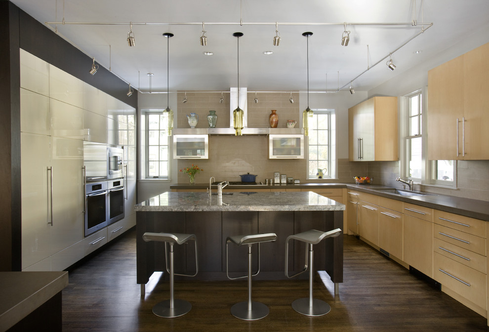 Barstool Boston for Contemporary Kitchen with Natural Light