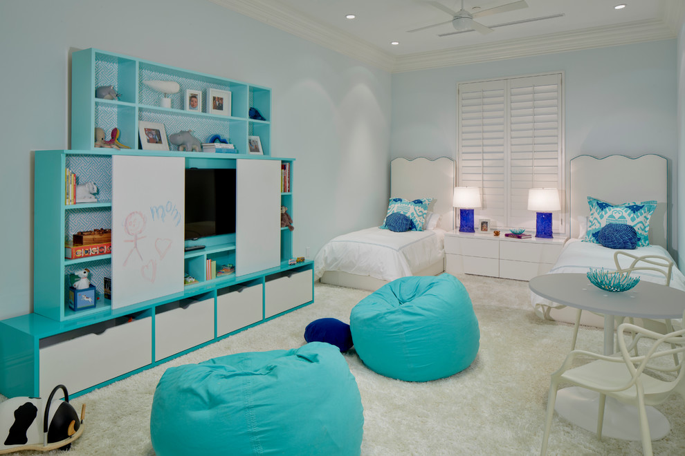 Bean Group Nh for Transitional Kids with Textured Carpet