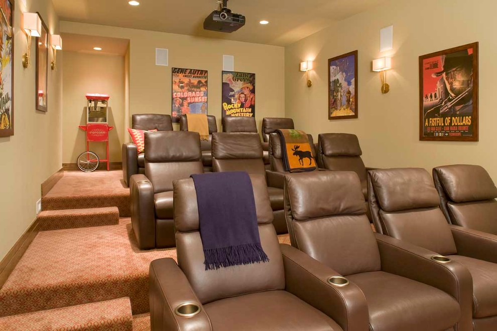 Beaver Creek Movie Theater for Contemporary Home Theater with Tiered Seating