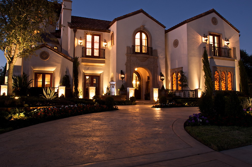 Beazer Homes Reviews for Mediterranean Exterior with Planters