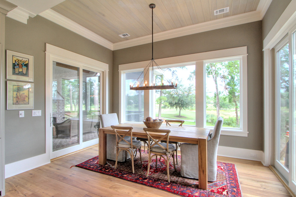 Belfair Plantation for Transitional Dining Room with Wood Dining Chairs