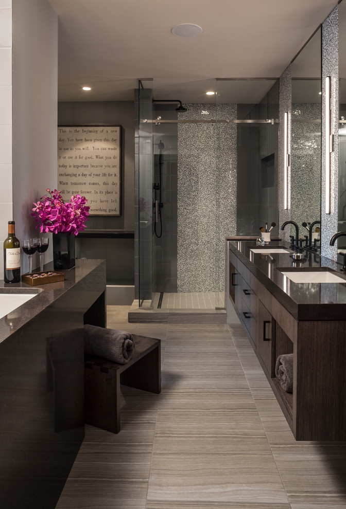 Bellagio Day Spa for Contemporary Spaces with Double Sinks