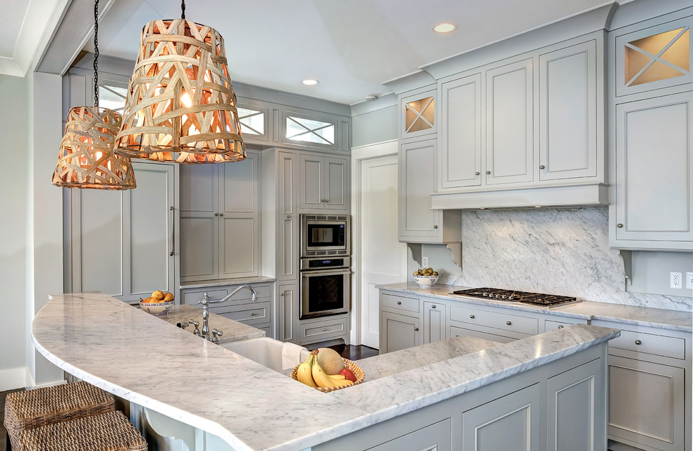 Benjamin Moore Gray Owl for Traditional Kitchen with Integrated Range Hood