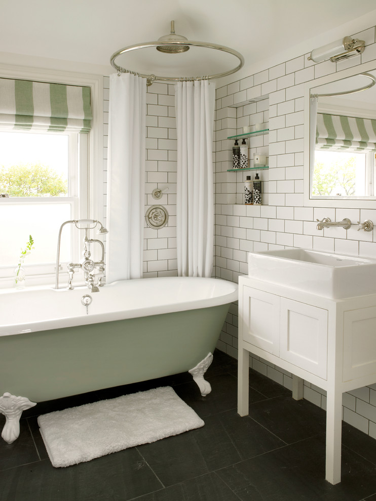 Best Buy Webster Tx for Transitional Bathroom with Green Claw Foot Tub
