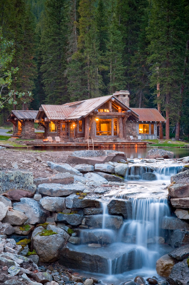 Big Sky Brokers for Rustic Exterior with Patio