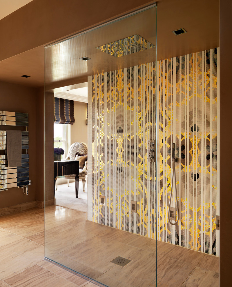 Bisazza for Contemporary Bathroom with Georgian Style