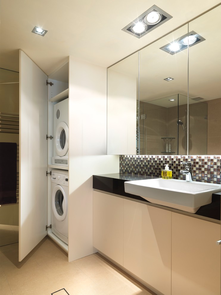 Blackman Plumbing Locations for Contemporary Laundry Room with Laundry