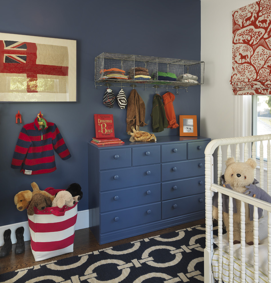 Blue Fin Bay for Traditional Nursery with Wall Decor