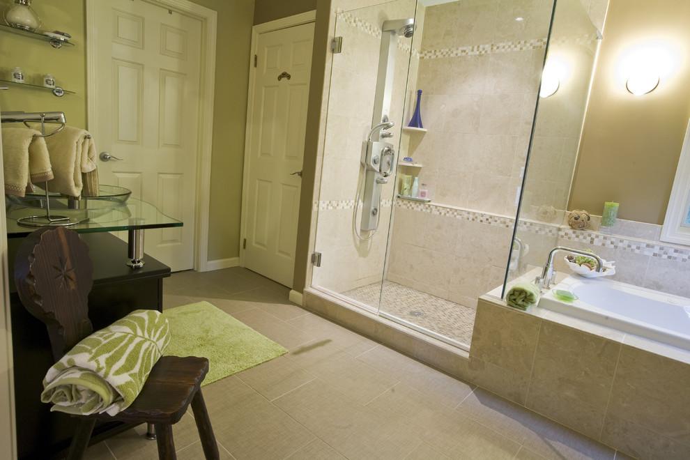 Bridgeport Equipment for Tropical Bathroom with Lighting Fixtures