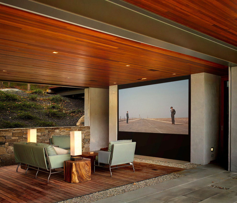 Bridgeport Theater for Modern Deck with Stone