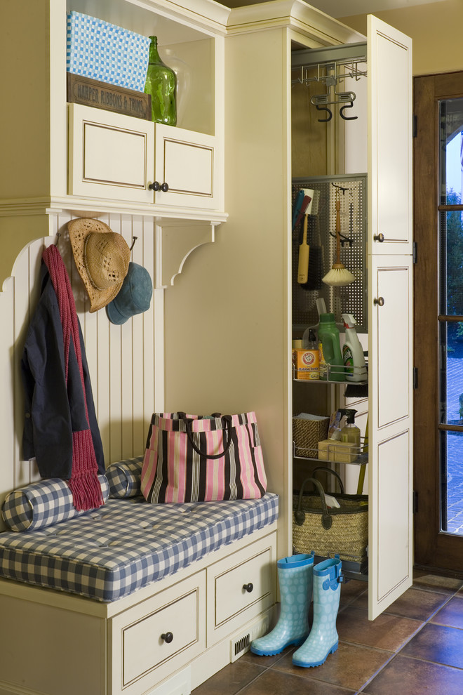 Builders Supply Outlet for Rustic Entry with Mudroom