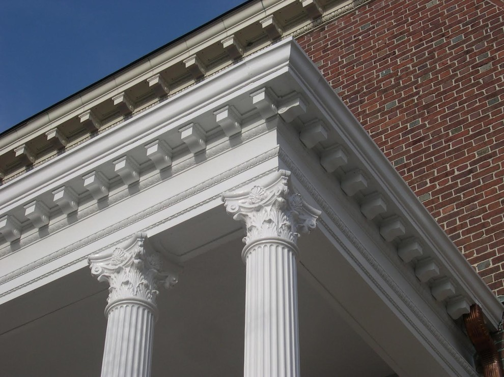 Burke Rehabilitation Center for Traditional Porch with Fluted Columns