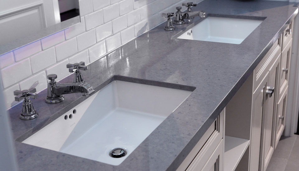 Caeserstone for Traditional Bathroom with Traditional
