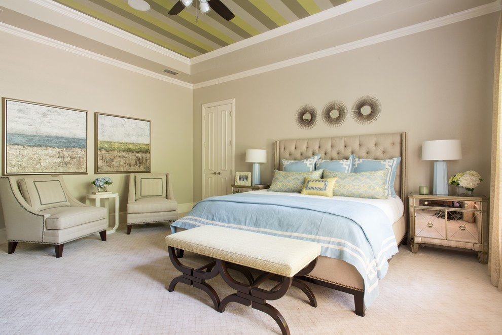 Cal King Bed Dimensions for Transitional Bedroom with Modern Bed Bench