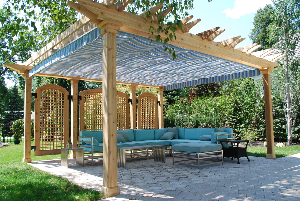 Canope for Traditional Patio with Awning