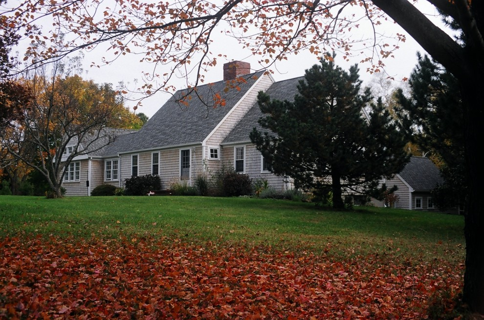 Cape Cod Lumber for Traditional Exterior with Lawn