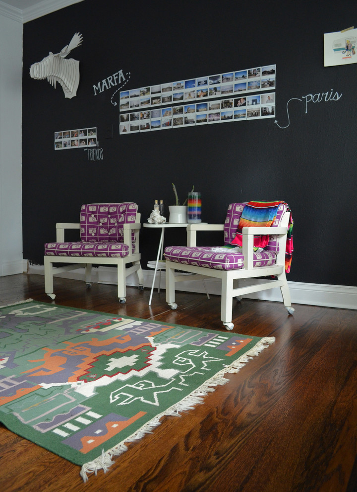 Cardboard Chairs for Eclectic Home Office with Purple