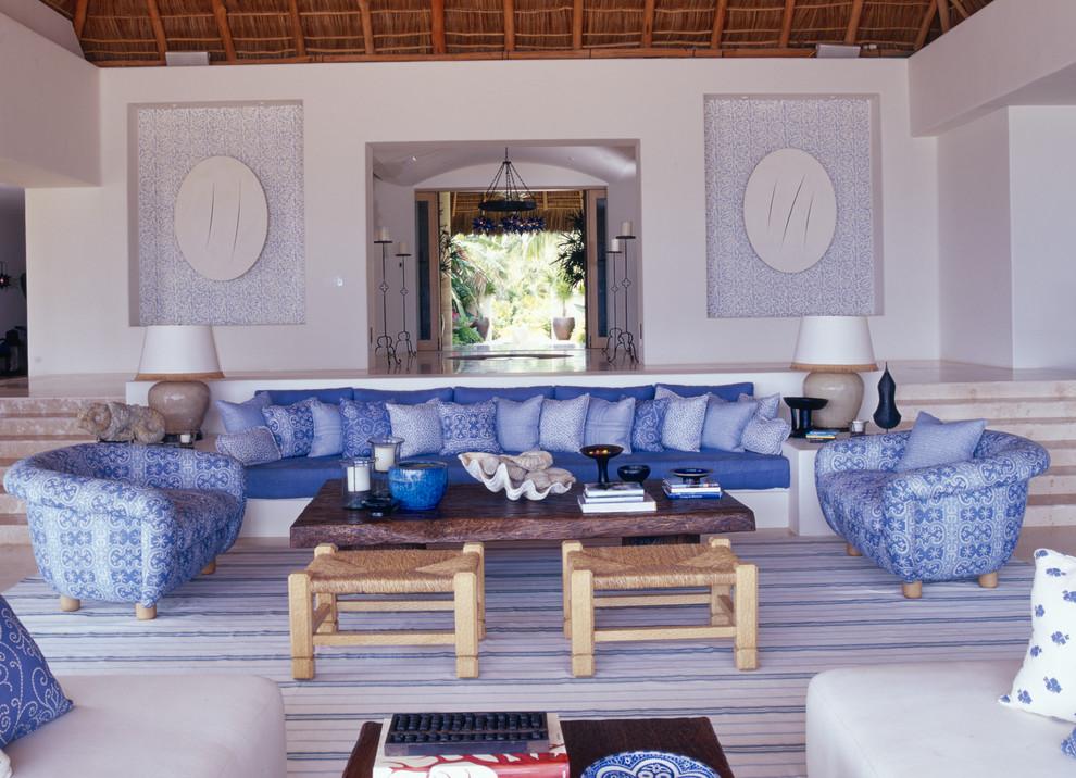 Casa Aramara for Beach Style Living Room with Balinese Inspired