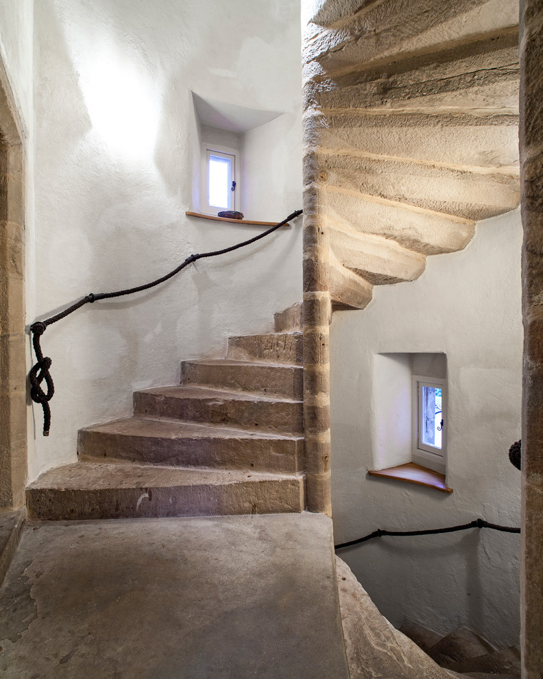 Castle Metals for Rustic Staircase with Castle