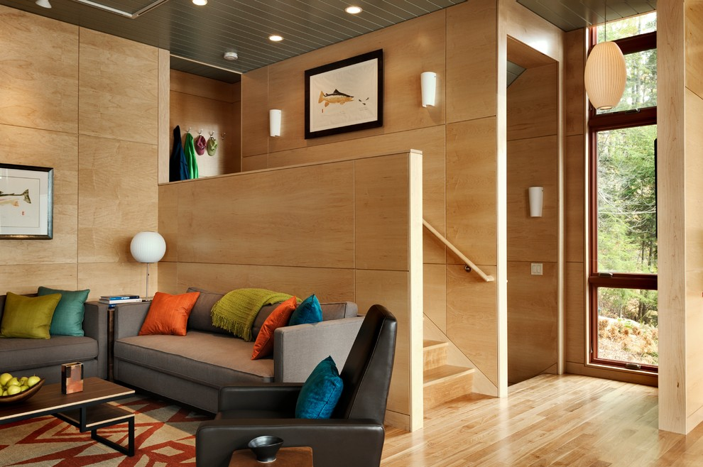 Cdx Plywood for Contemporary Living Room with Large Windows