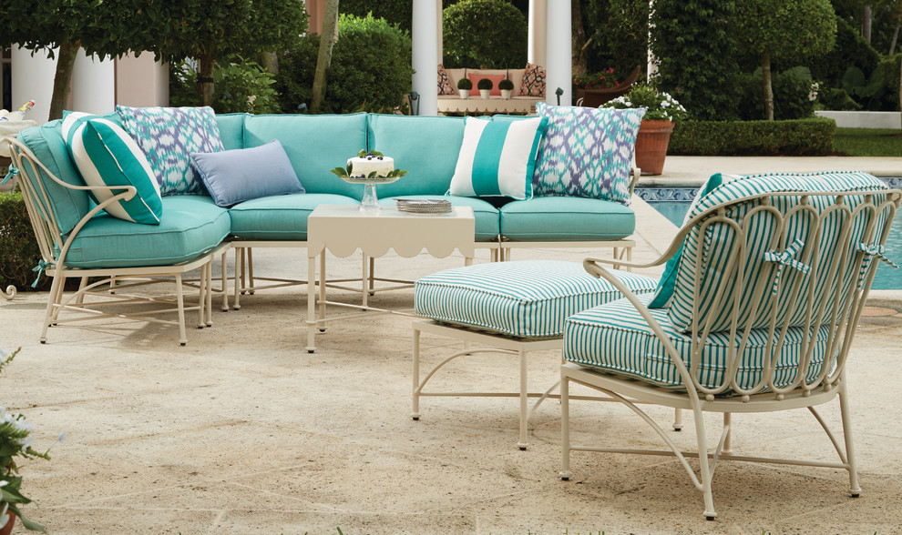 Celerie Kemble for Traditional Patio with Sunbrella Cushions
