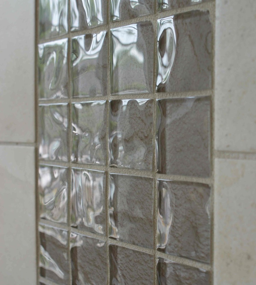 Ceramic Tileworks for Modern Living Room with Spectrum Glass Mosaic