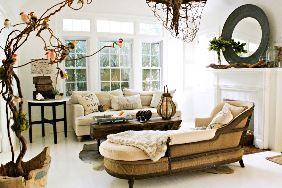 Chaise Definition for Eclectic Living Room with Shabby Chic