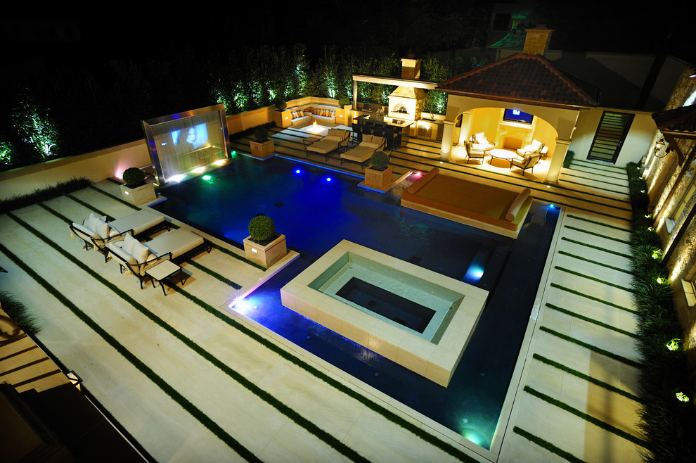 Champlin Movie Theater for Modern Pool with Lounge