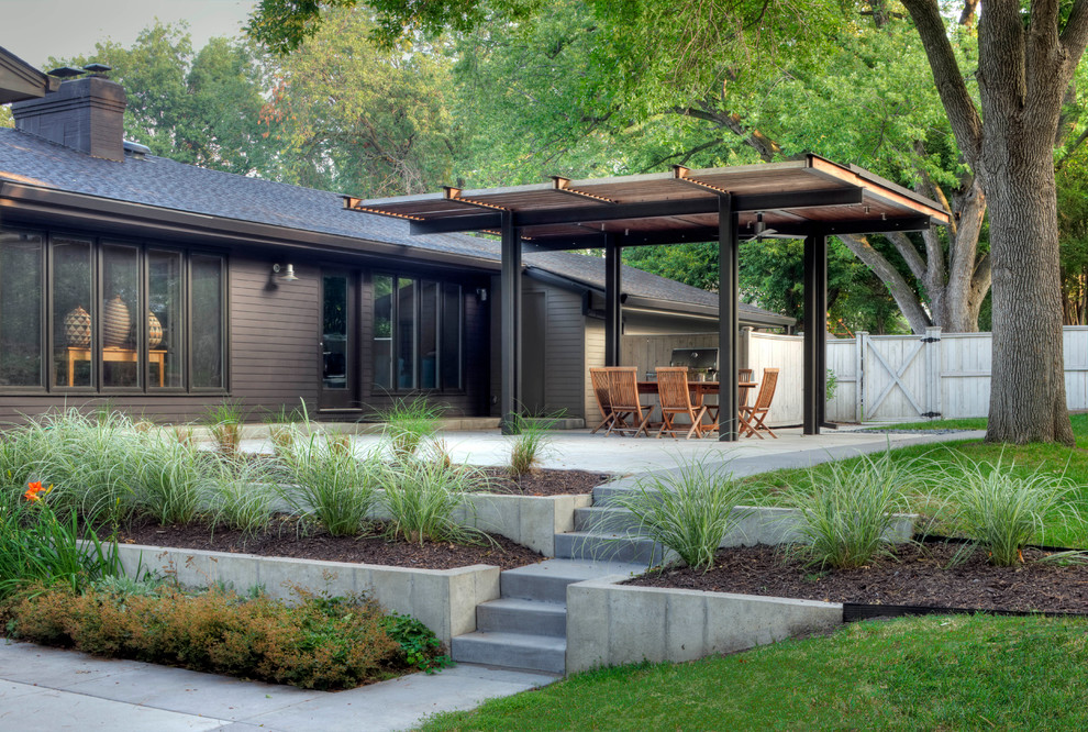 Charleston Homes Omaha for Contemporary Landscape with Backyard Remodel