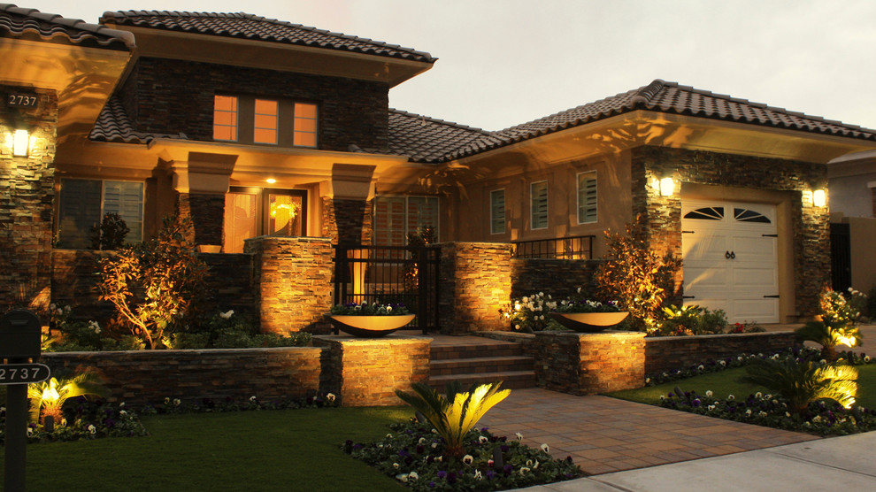 Chip and Dales for Contemporary Landscape with Landscape Lighting