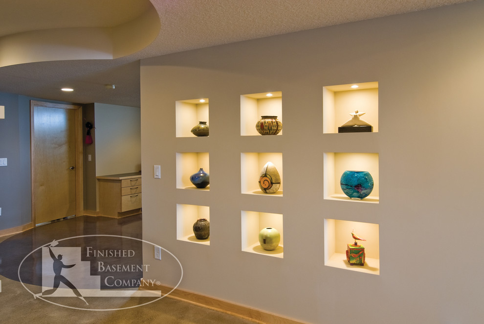 Cicero Theater for Contemporary Basement with Accent Lighting