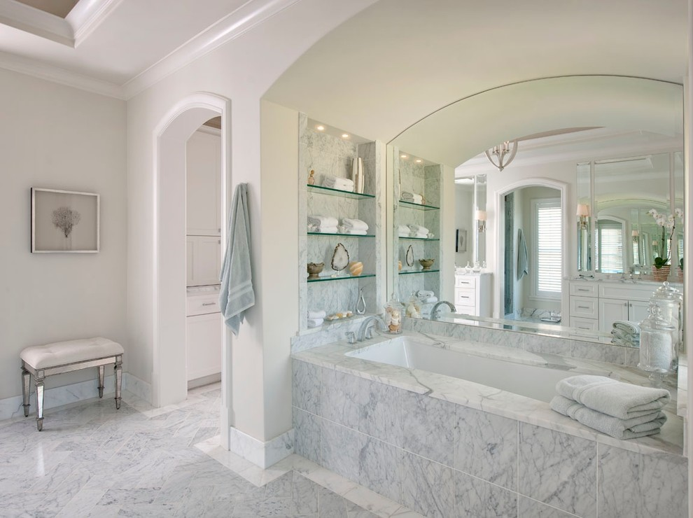 Clary Sage Tulsa for Traditional Bathroom with Mirrored Tub