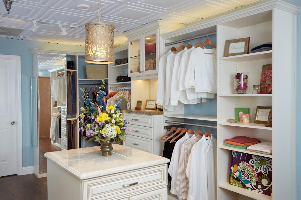 Closet Rod Height for Contemporary Closet with White Wood Closet