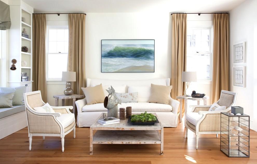 Coastal Virginia Magazine for Shabby-Chic Style Living Room with Artwork
