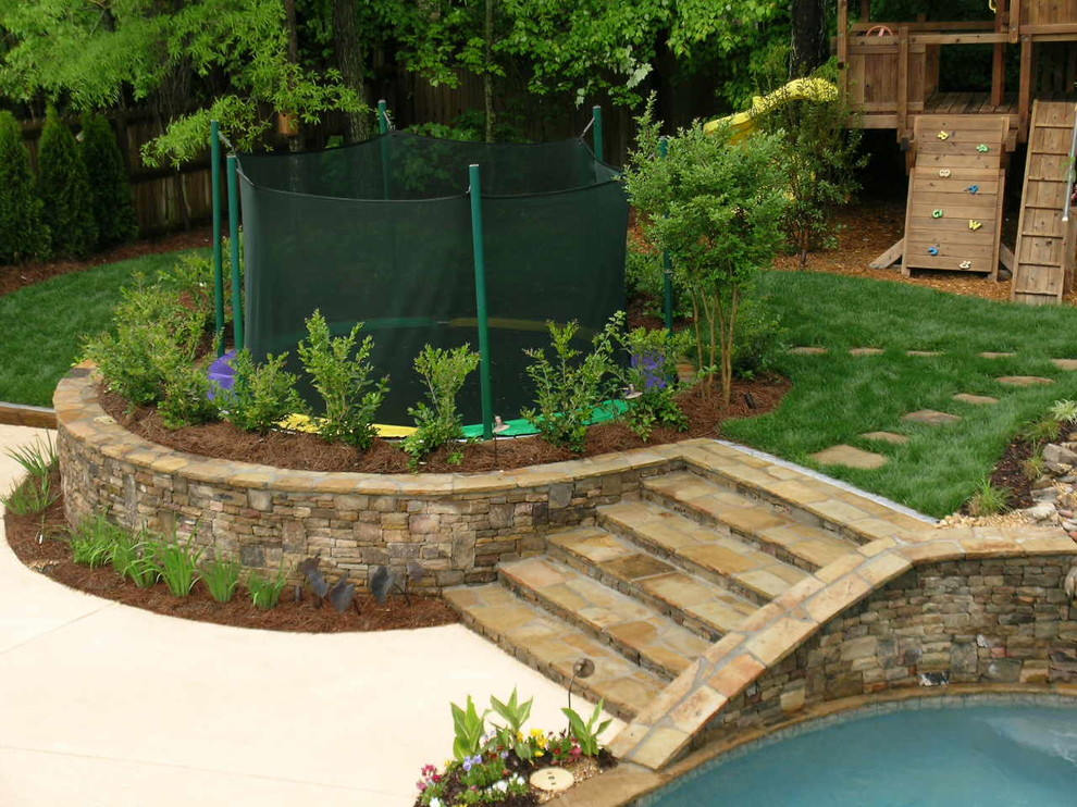 Cobb County Tractor for Traditional Patio with Waterfall